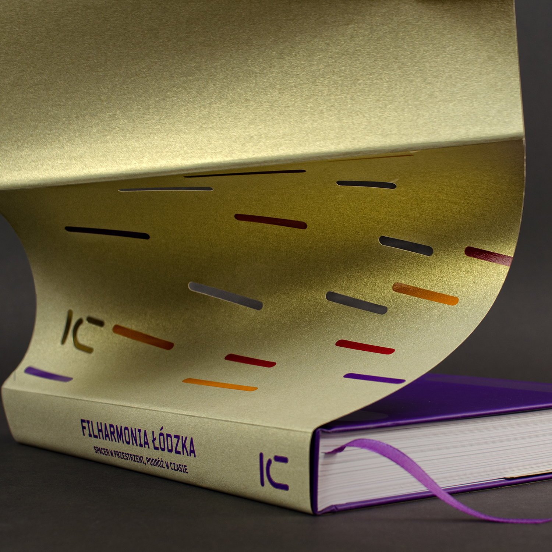 conception du livre, 100 ans du livre philharmonique de Lodz par Izabela Jurczyk