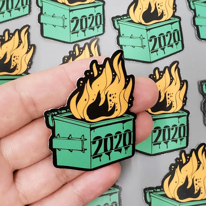 2020 fire sticker, cool