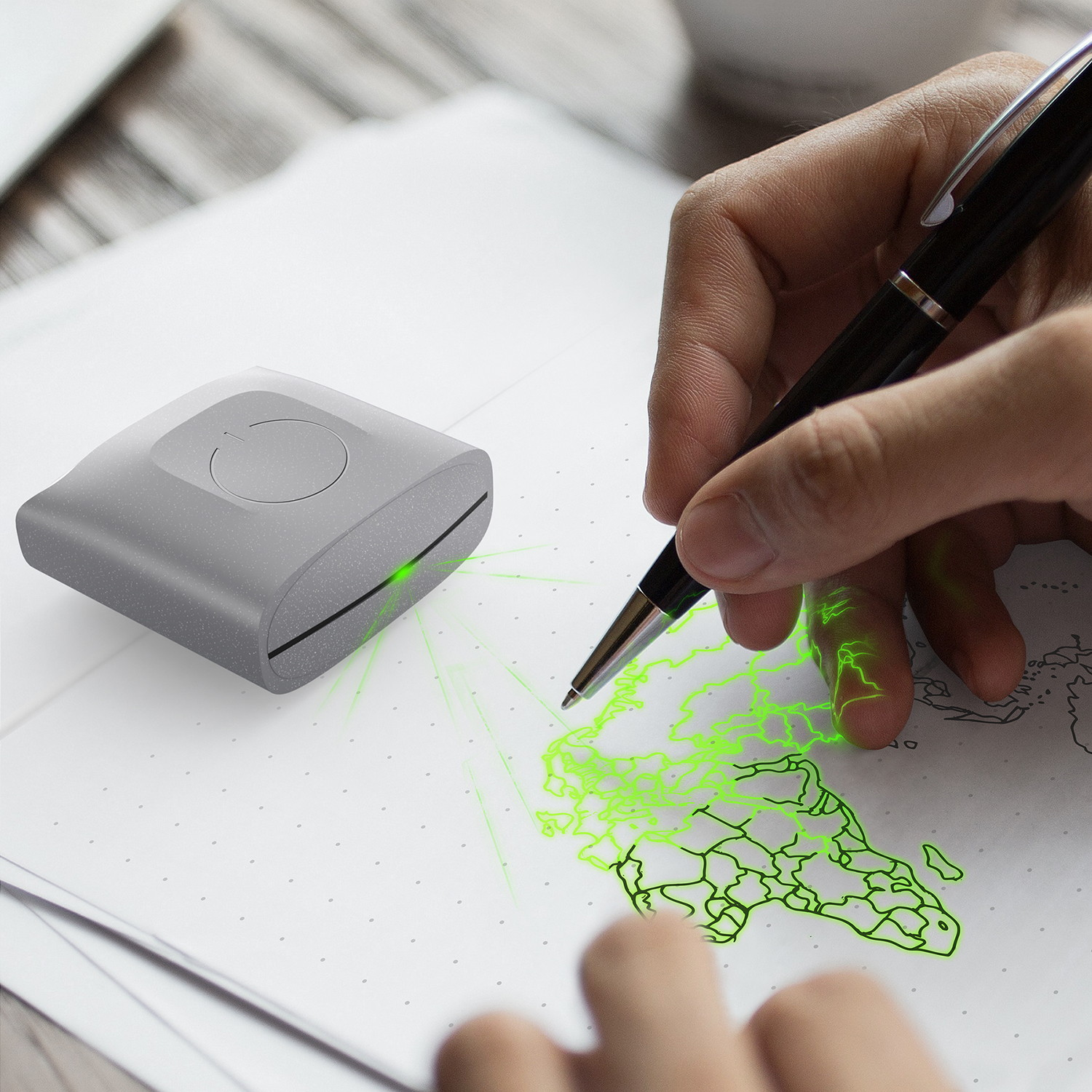Doodlight Bullet Journal Laser Projector by Mohamad Montazeri, technology, drawing, adesignawards