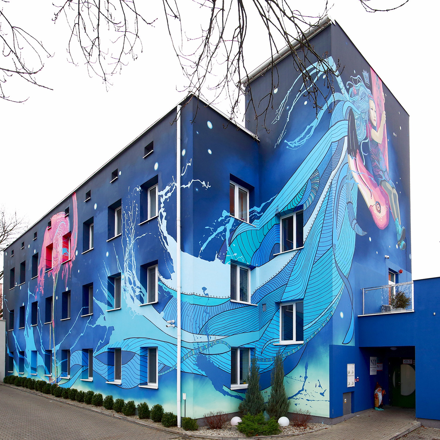 Tale About Fear Mural by Marta Zawieja, street art, adesignawards and competition