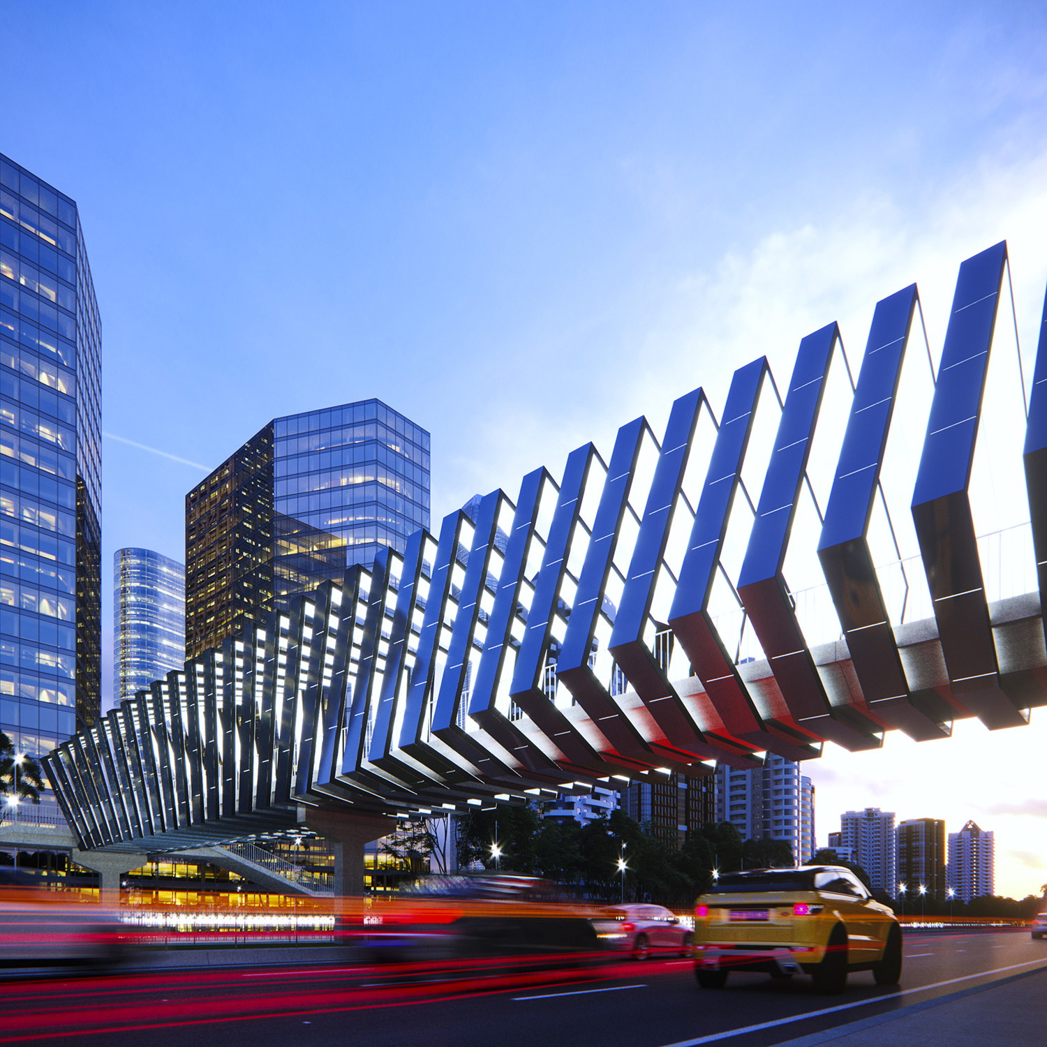 Solar Skywalks Energetic Activation of Footbridges by Peter Kuczia, modern architecture