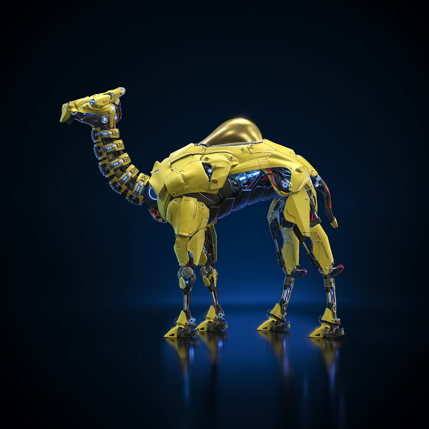 Camel Robot Digital Art by Edu Torres, digital art, futuristic, adesign award and competition