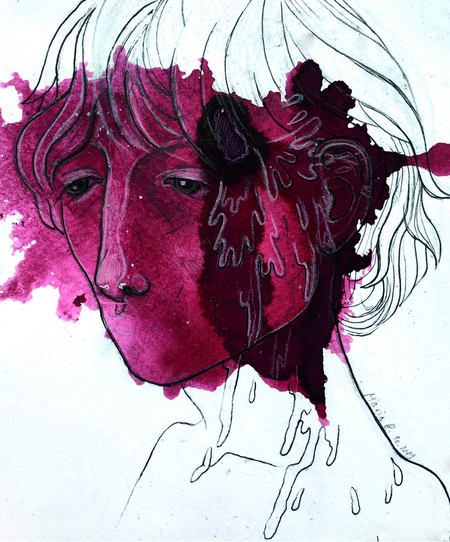 Splash Illustration by Maria Bradovkova, art, splash art, portrait