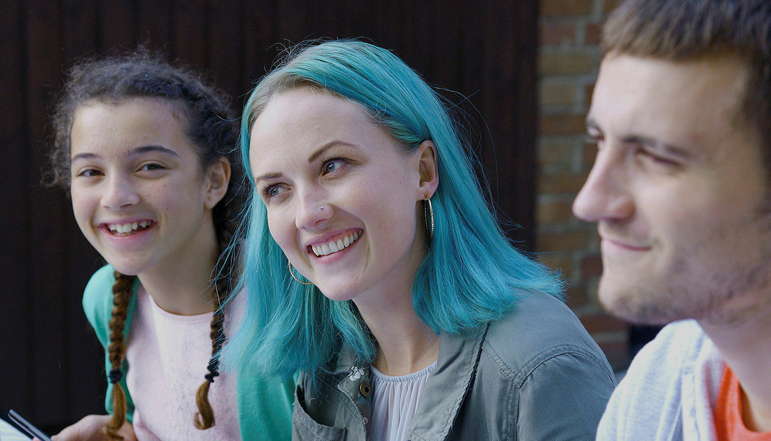 blue haired girl, Lynn + Lucy