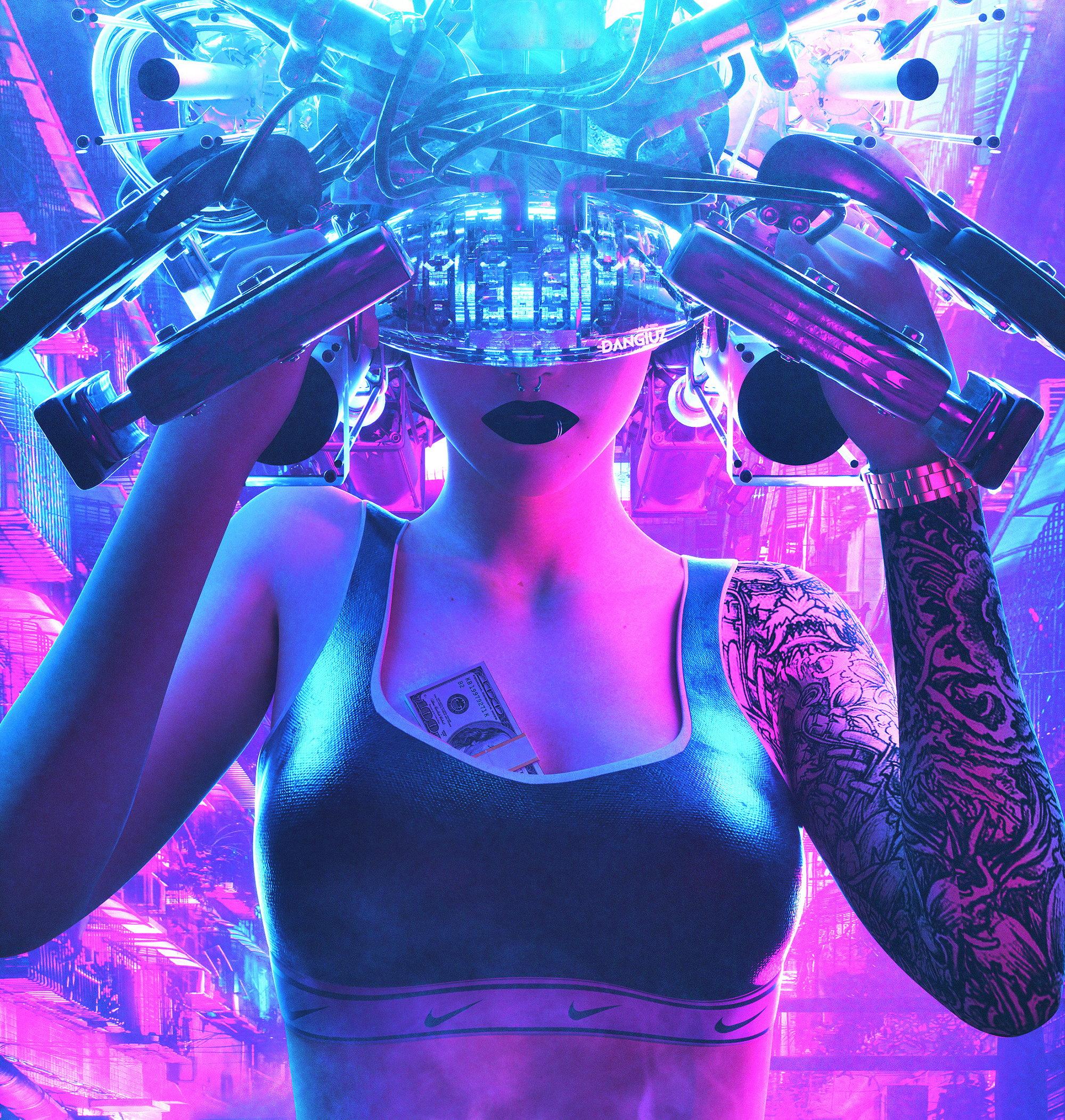 cyberpunk digital art by Dangiuz / Leopoldo D'Angelo