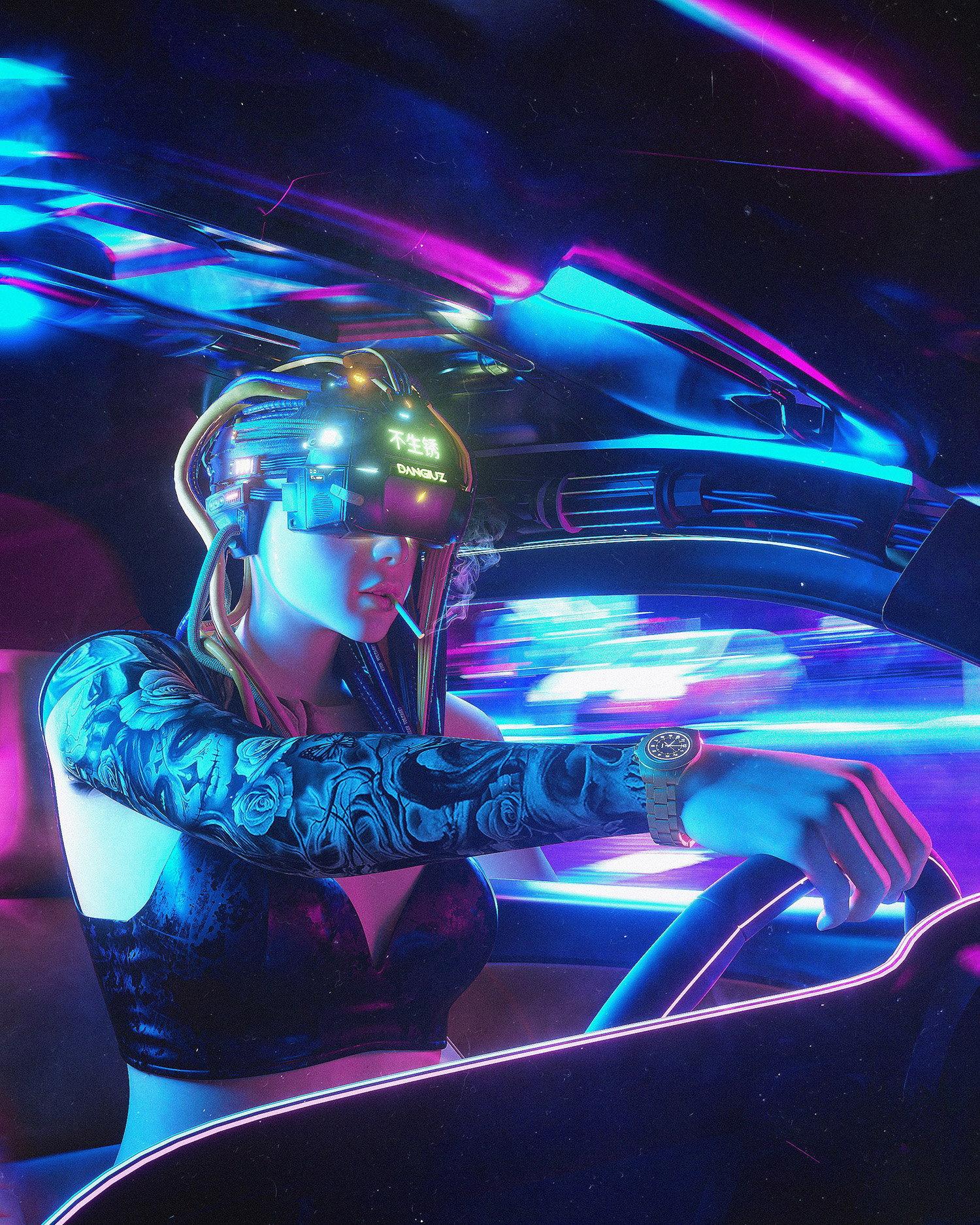 futuristic freerunner , blade runner style by Dangiuz / Leopoldo D'Angelo