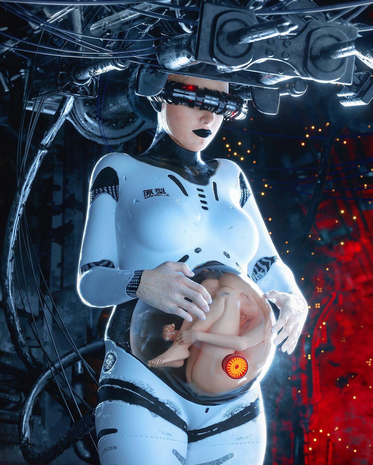 new life, future technology, digital art by by Dangiuz / Leopoldo D'Angelo