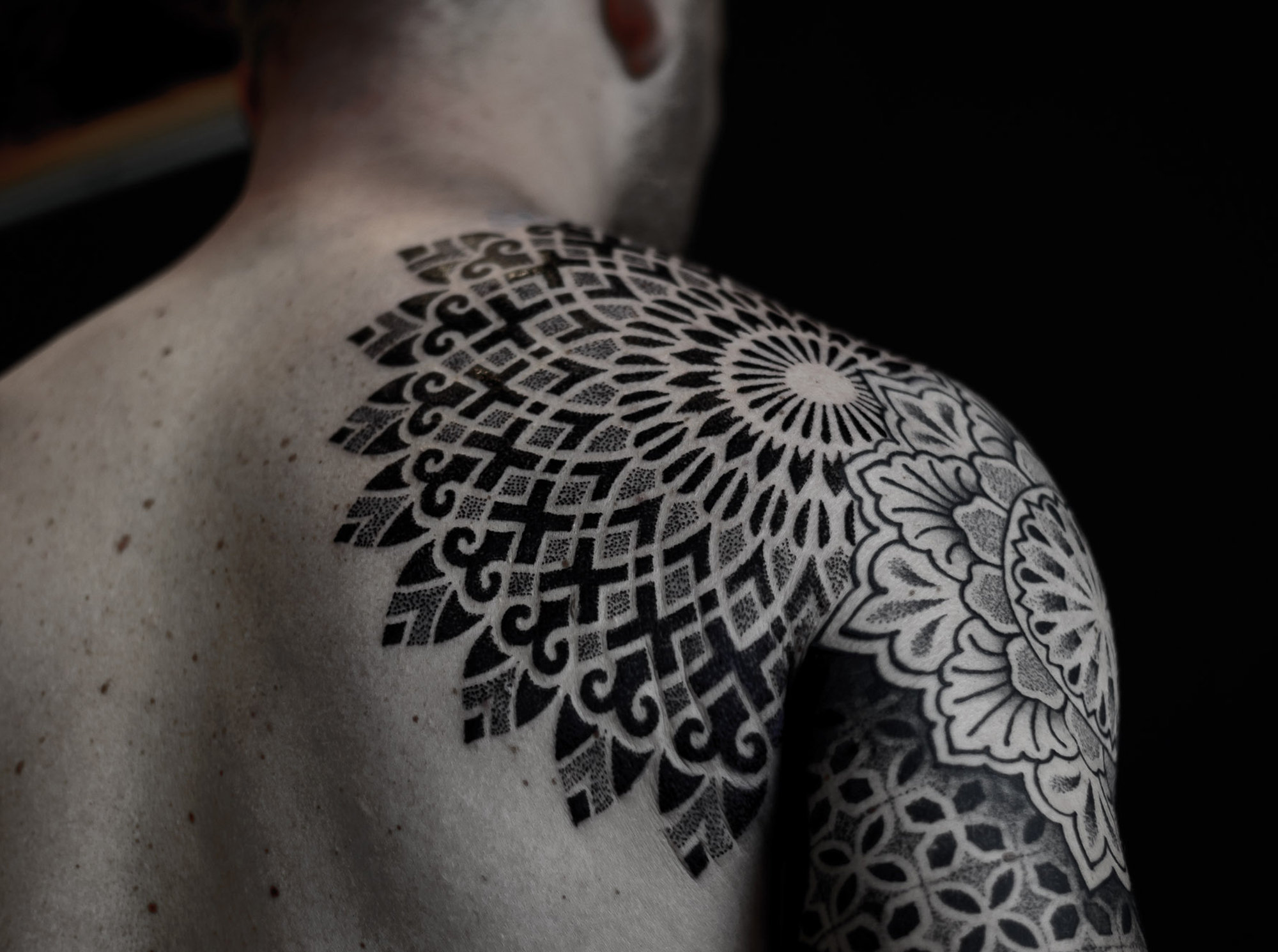 mandala, sacred geometry tattoo by paradox from the netherlands