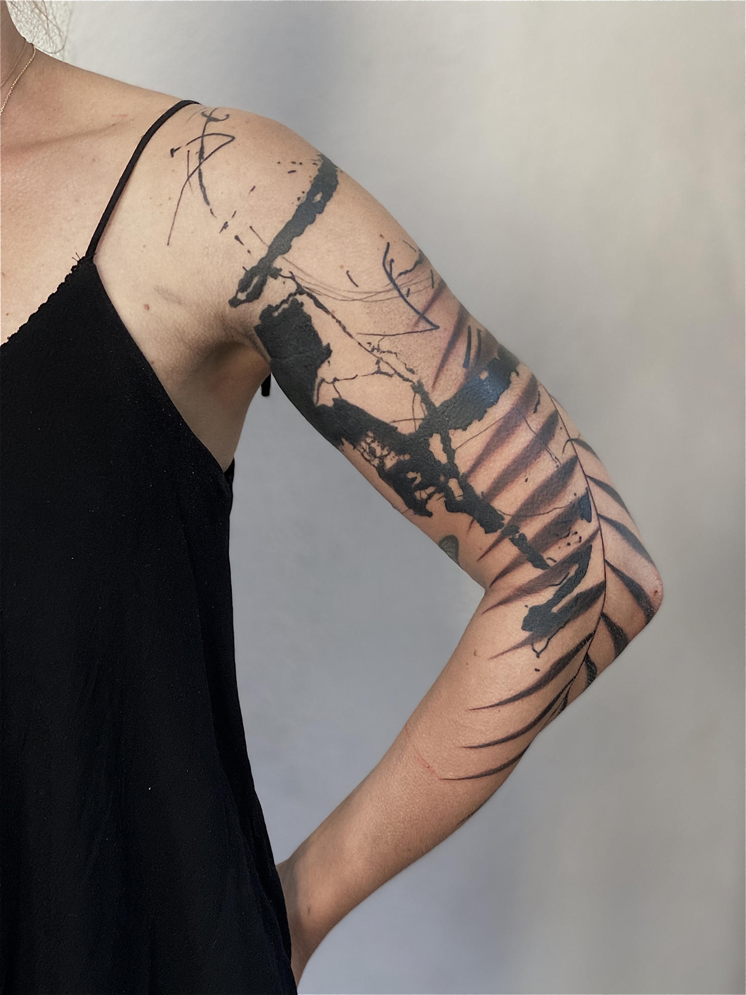 nature tattoo sleeve abstract, holistic tattooing by dane, danepsydala