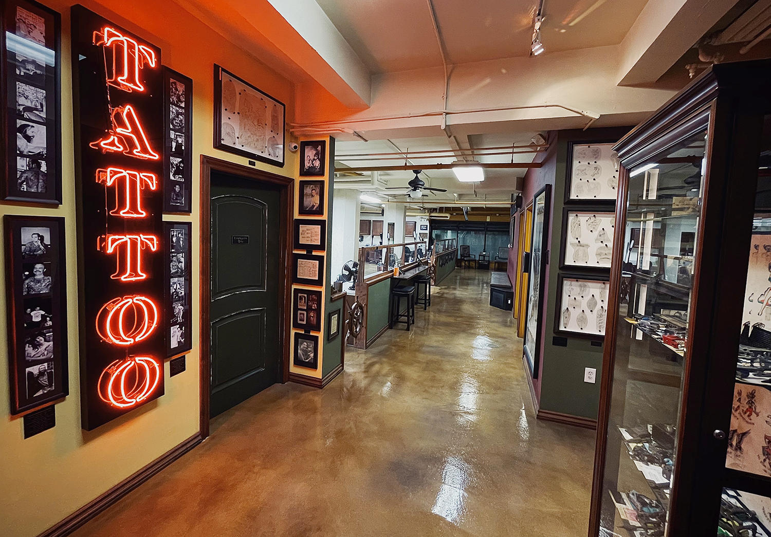 Outer Limits Tattoo studio in Long beach, California, oldest active running shop in America