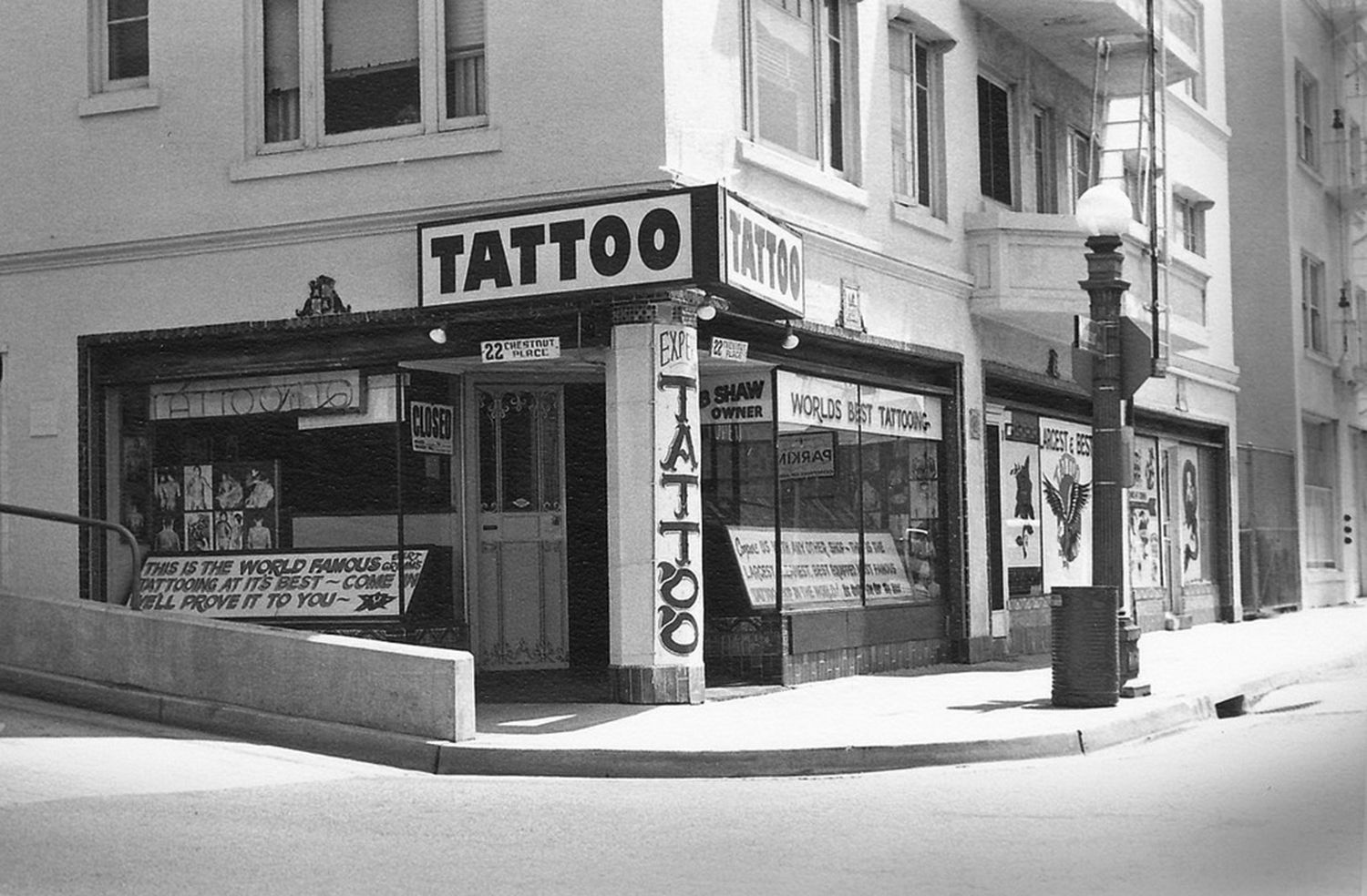 Outer Limits was purchased by Kari Barba in 2002 from the sons of tattoo artist, Bob Shaw, who was the nephew of the famous Bert Grimm.