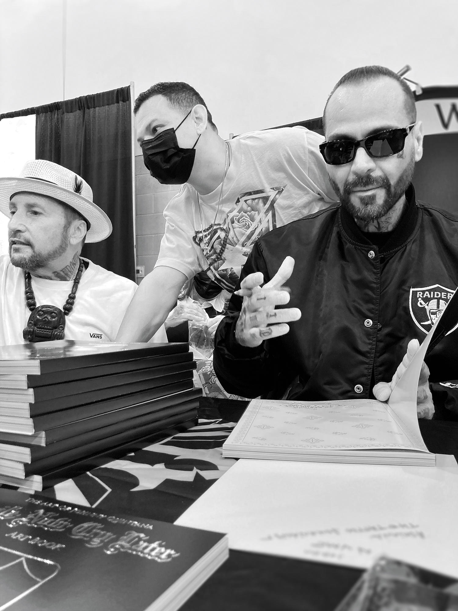 Freddy Negrete, Chuey Quintanar, and Johnny Quintana, from left to right.