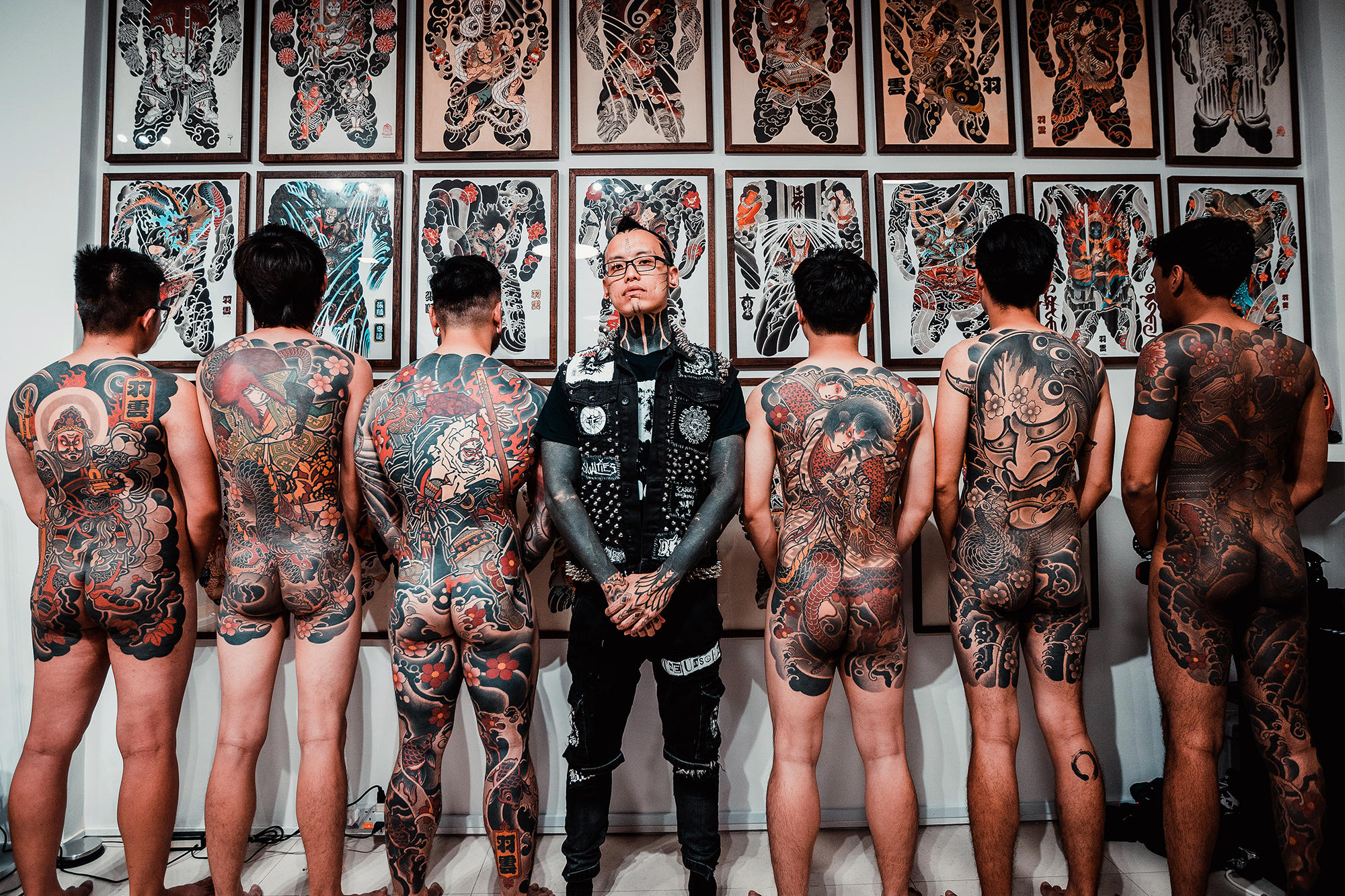 Shane Tan's bodysuits and back pieces collection.