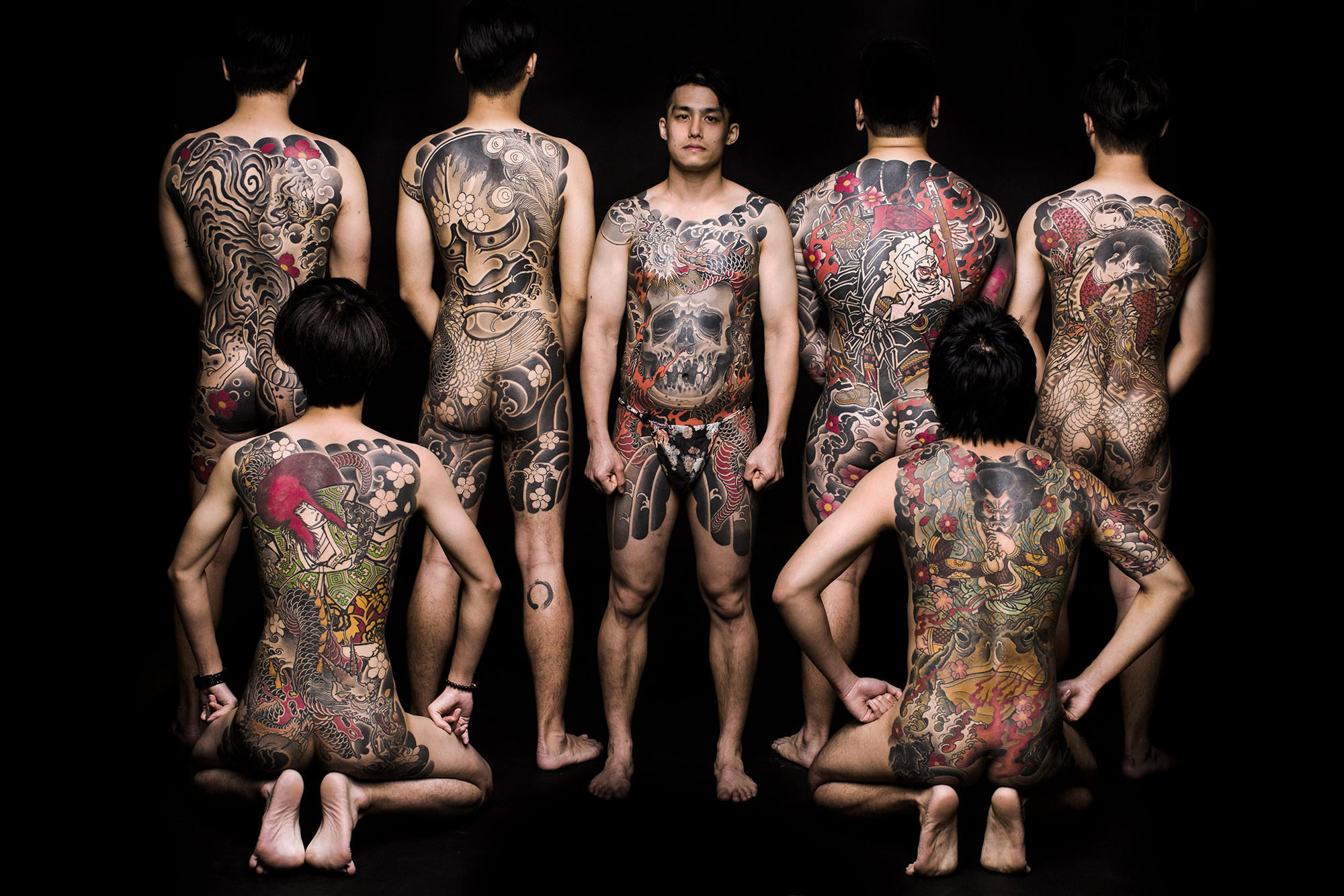Shane Tan's chest and back tattoos; photograph by Jana Yar.