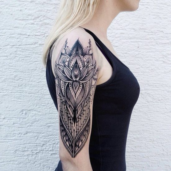 Meticulously Stippled Ornamental Tattoos by Jessica Kinzer