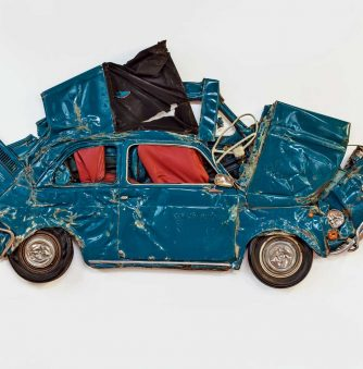 Flattened Fiats: Ron Arad Crushes Cars into Industrial Sculptures