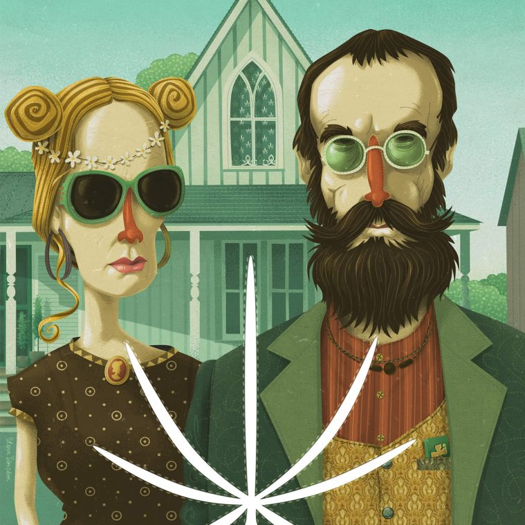 "10 Remakes of Grant Wood's ""American Gothic"""