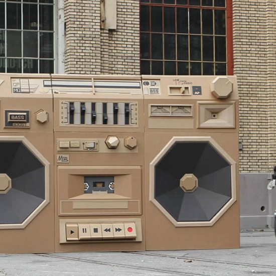 The Cardboard Ghetto Blaster