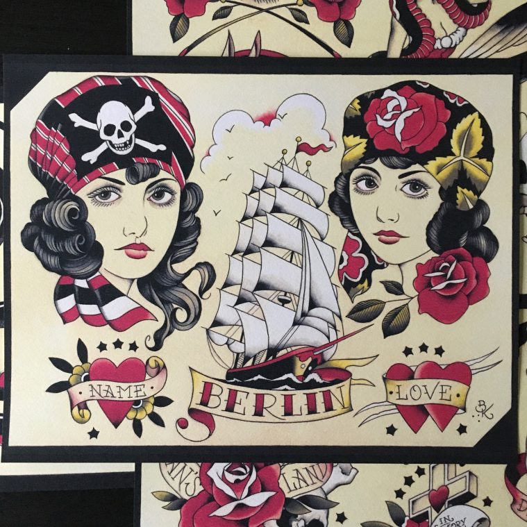 From Berlin with Love: Tattoo Flash by Brian Kelly