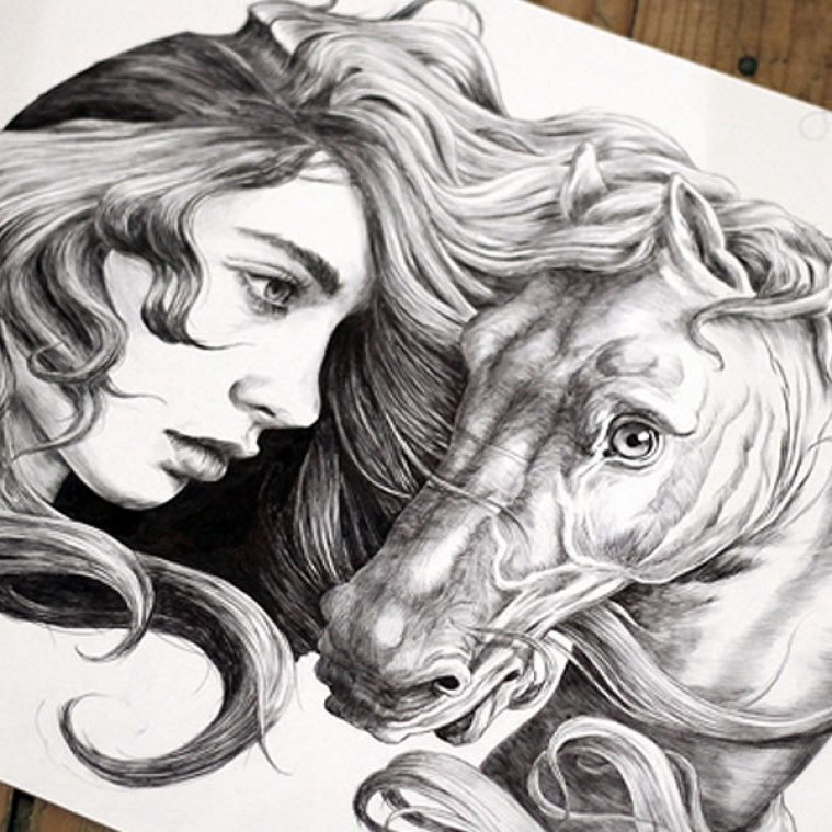 Horse Hair and Other Sketchbook Art