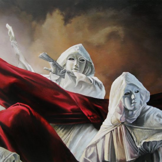 Passion and Performance in Christopher Pew's Surreal Oil Paintings