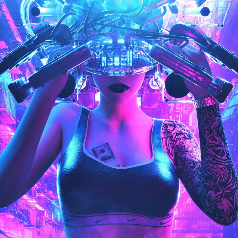 Cyber Future: Tattooed Synthetic Humans by Dangiuz