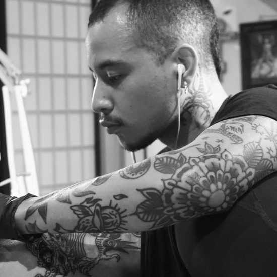 Daniel Matsumoto Tattoos at the Old Crow Studio in Oakland