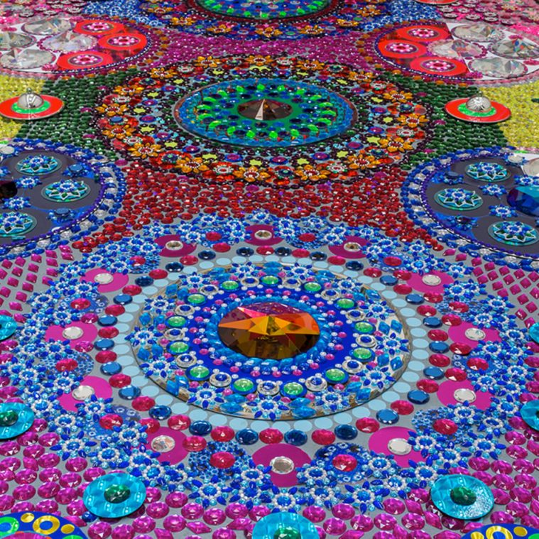 Dutch Artist Creates Bling Carpet Art