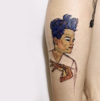 Tattoo Artists Recreate Egon Schiele Masterpieces