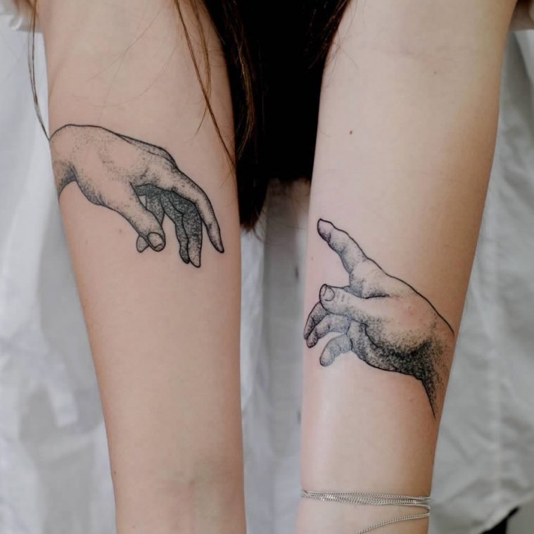 Tattoo Re-Creations of Famous Works of Art