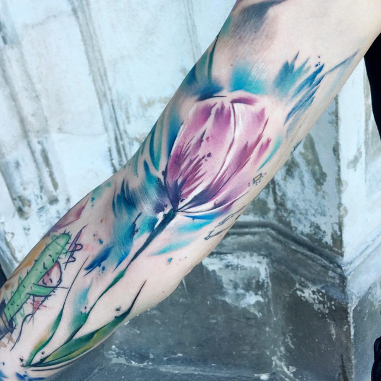 Filip Fabian's Watercolor Tattooing in San Francisco