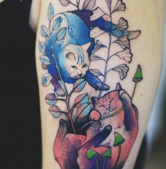 Magical Frogs and Kitties: Tattoos by Joanna Swirska