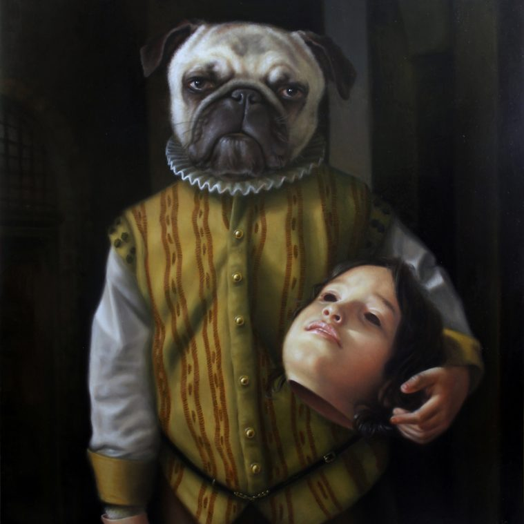 Playfully Dark Surrealist Paintings by Jose Luis Lopez Galvan