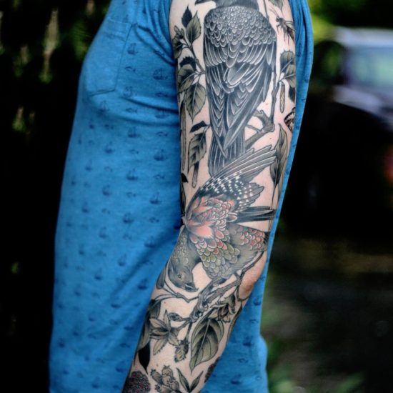 A Modern Audubon: Naturalistic Tattoos by Kirsten Holliday