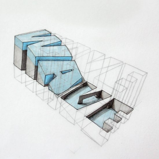 Hand-Drawn 3D Typography by Lex Wilson
