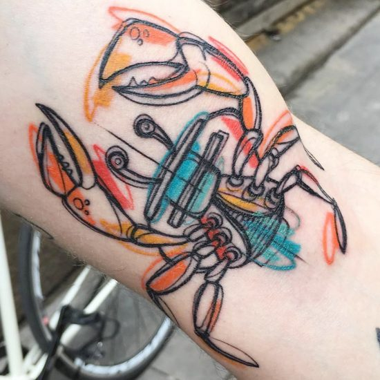 Sketchbook Tattoos that Vibrate on the Body by Luca Testadiferro