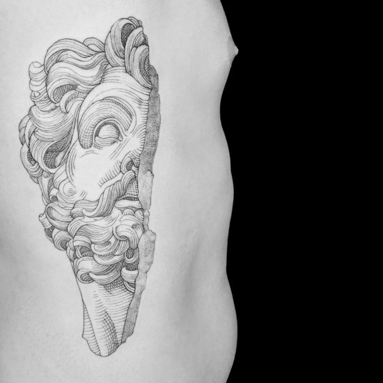 Etching-Style Tattoos by Marco Matarese