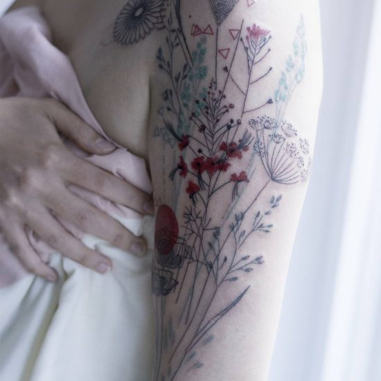 Delicate Tattoos Mimic the Natural World by Marta Lipinski