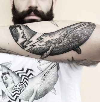 Shape-Shifting Blackwork Tattoos by Matteo Nangeroni