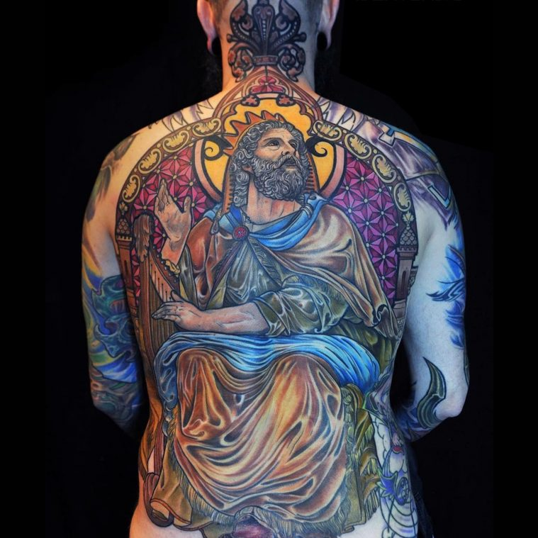 Medieval, Stainless Glass Inspired Tattoos by Mikael de Poissy