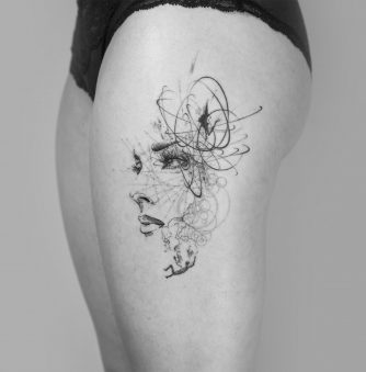 Tattoos by Mowgli are Tiny Microcosms on Skin