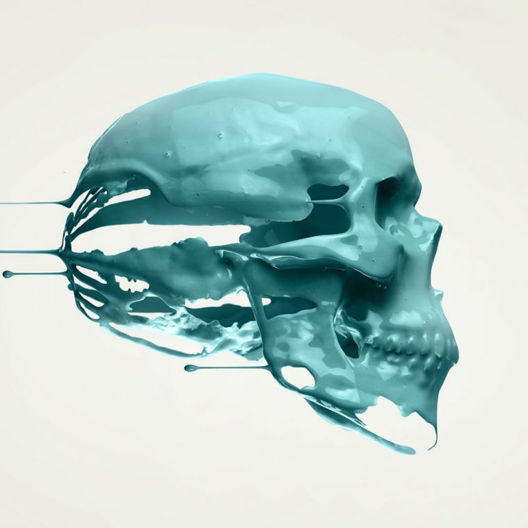 Digital-Dripping Skulls by Paul Hollingworth