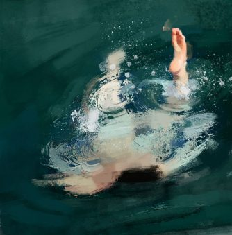 Painting the Nude Swimmer Green