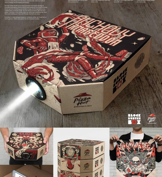Just Imagine a Pizza Box That Turns into a Film Projector
