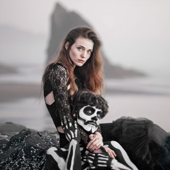 The Skeleton Queen: Spooky Coastal Photoshoot by Rob Woodcox