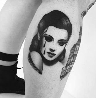 Eerie Tattoos of Women With Soulless Eyes by Slumdog