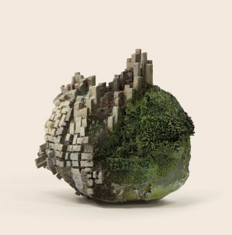 "Tiny Microcosms Set in ""Stone"" Sculptures by Song Kang"