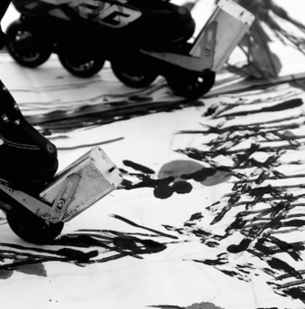 Watch This Chinese Artist Use Rollerblades to Make Landscape Art