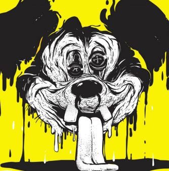 Yellow Inked Mickey Mouse
