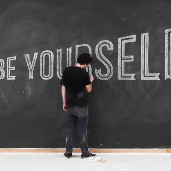 Be Yourself at the Chalkboard